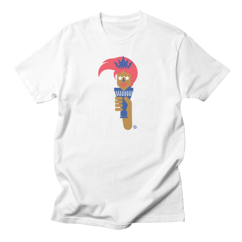 Lady Libery Men's Regular T-Shirt by Kevin's Pop Shop