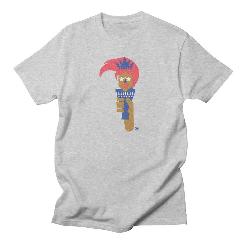 Lady Libery Men's Regular T-Shirt by Kevin's Pop Shop
