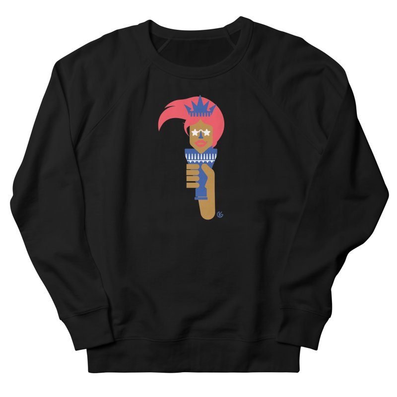 Lady Libery Women's French Terry Sweatshirt by Kevin's Pop Shop