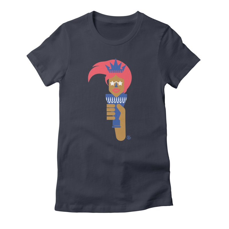 Lady Libery Women's Fitted T-Shirt by Kevin's Pop Shop