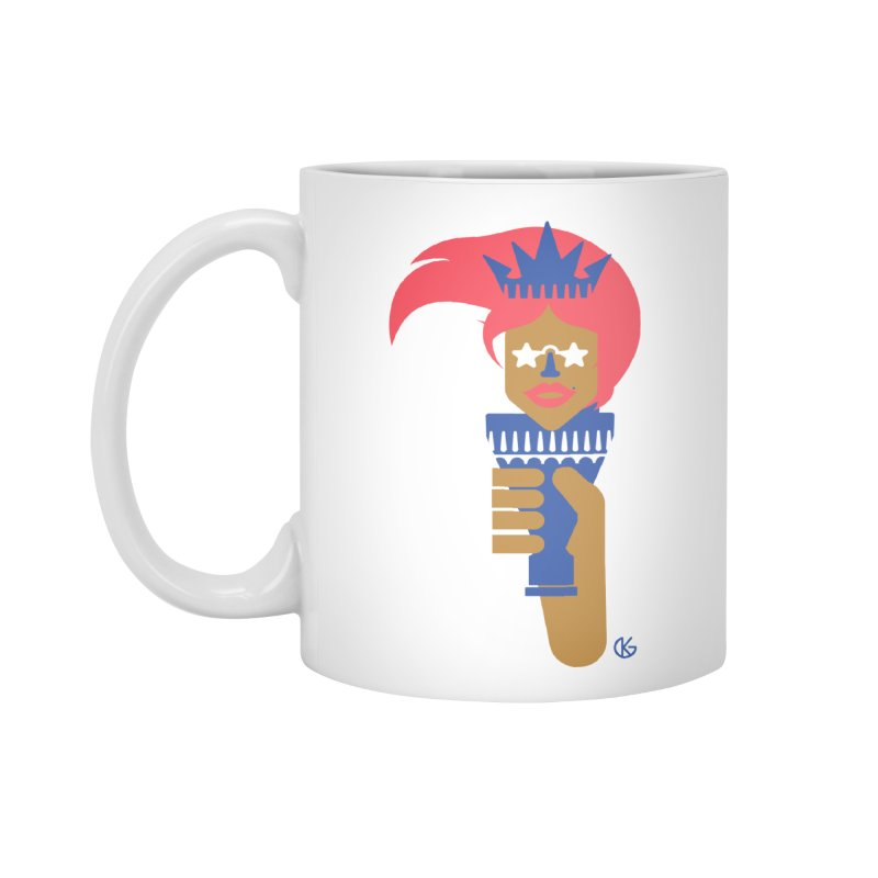 Lady Libery Accessories Mug by Kevin's Pop Shop