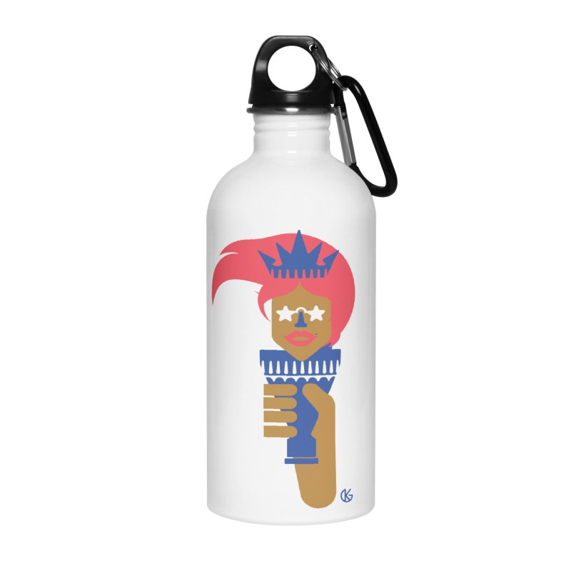 Lady Libery Accessories Water Bottle by Kevin's Pop Shop