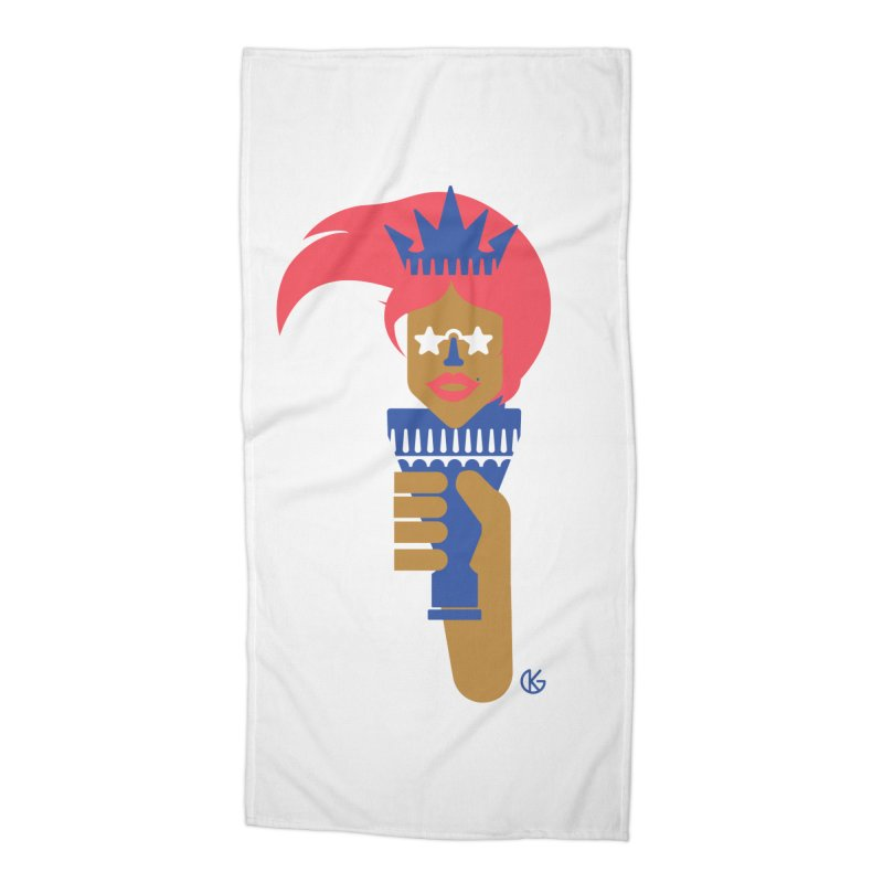 Lady Libery Accessories Beach Towel by Kevin's Pop Shop