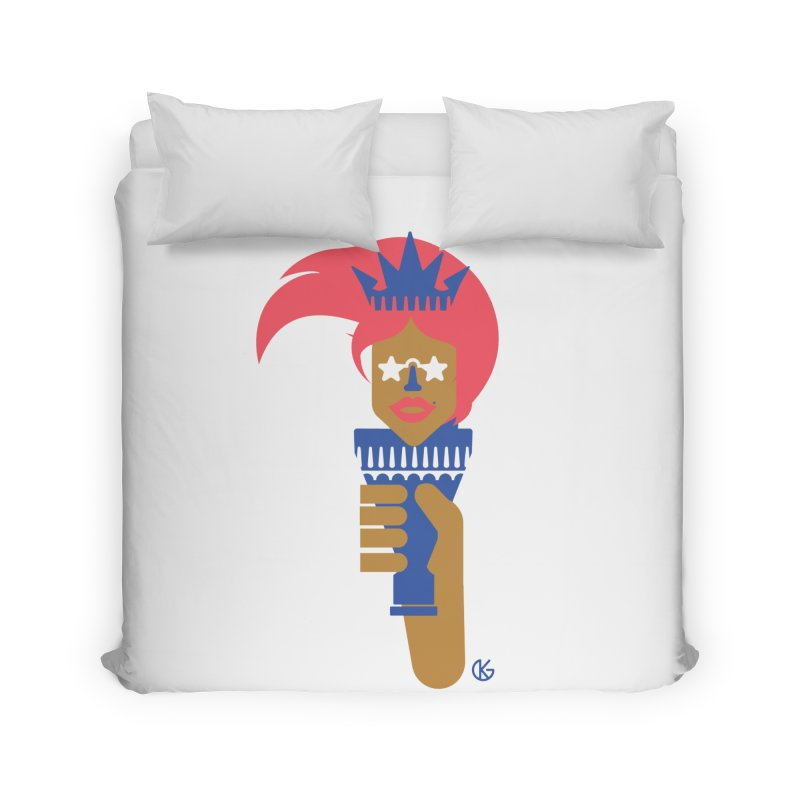 Lady Libery Home Duvet by Kevin's Pop Shop