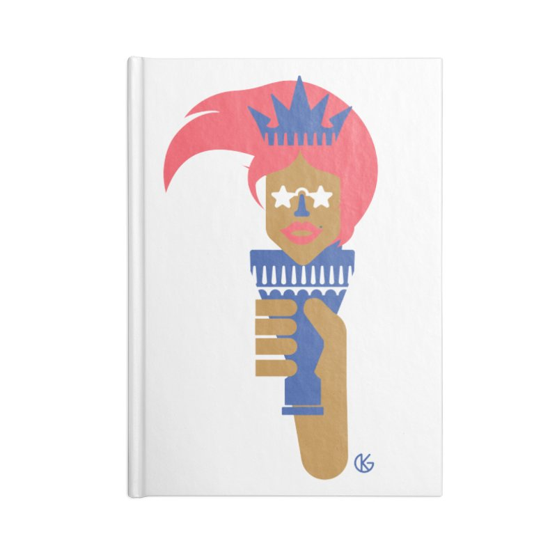Lady Libery Accessories Blank Journal Notebook by Kevin's Pop Shop