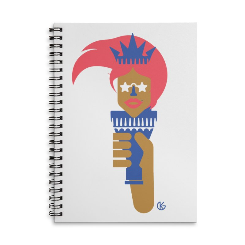 Lady Libery Accessories Notebook by Kevin's Pop Shop