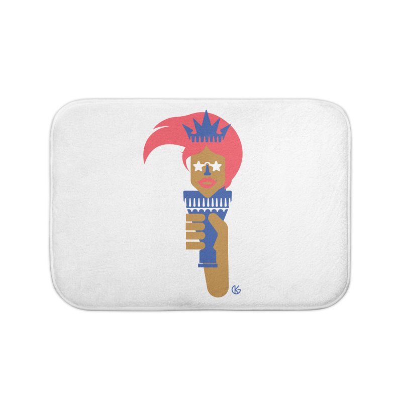 Lady Libery Home Bath Mat by Kevin's Pop Shop