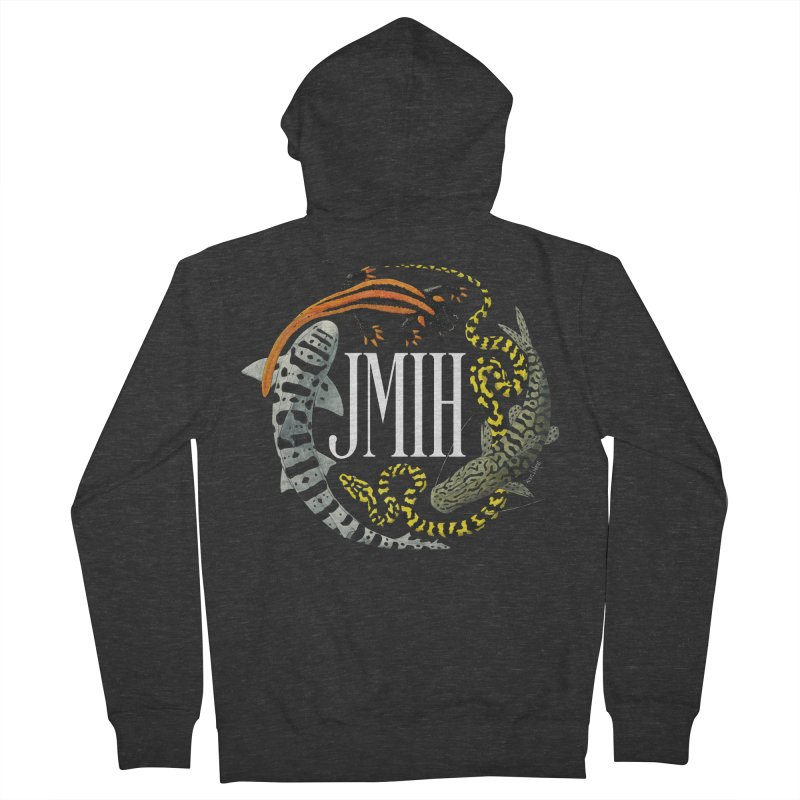 JMIH (for dark background) Women's French Terry Zip-Up Hoody by Kevin L. Wang Designs