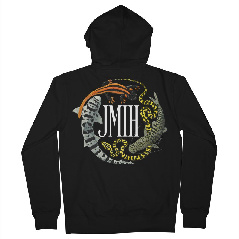 JMIH (for dark background) Men's French Terry Zip-Up Hoody by Kevin L. Wang Designs