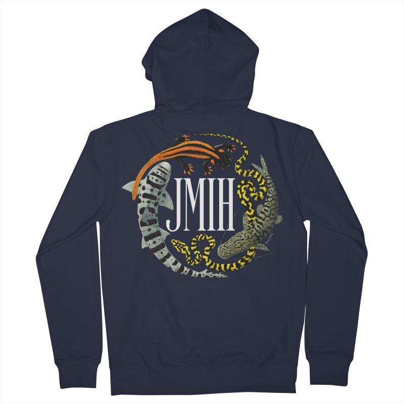 JMIH (for dark background) Men's Zip-Up Hoody by Kevin L. Wang Designs
