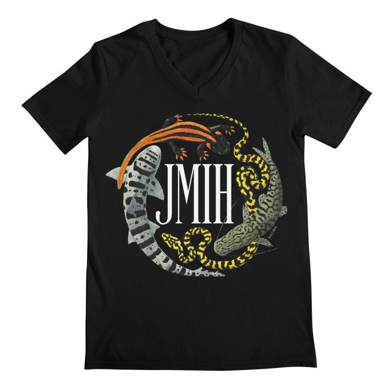 JMIH (for dark background) Men's V-Neck by Kevin L. Wang Designs