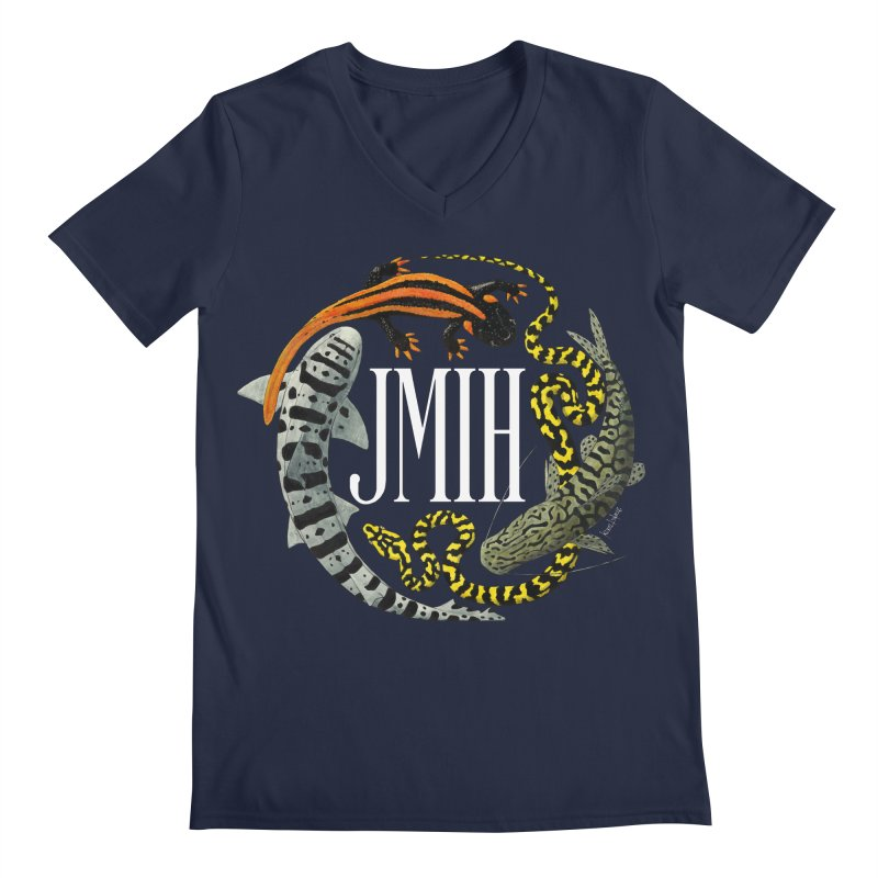 JMIH (for dark background) Men's V-Neck by Kevin L. Wang Designs