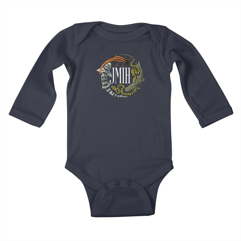 JMIH (for dark background) Kids Baby Longsleeve Bodysuit by Kevin L. Wang Designs