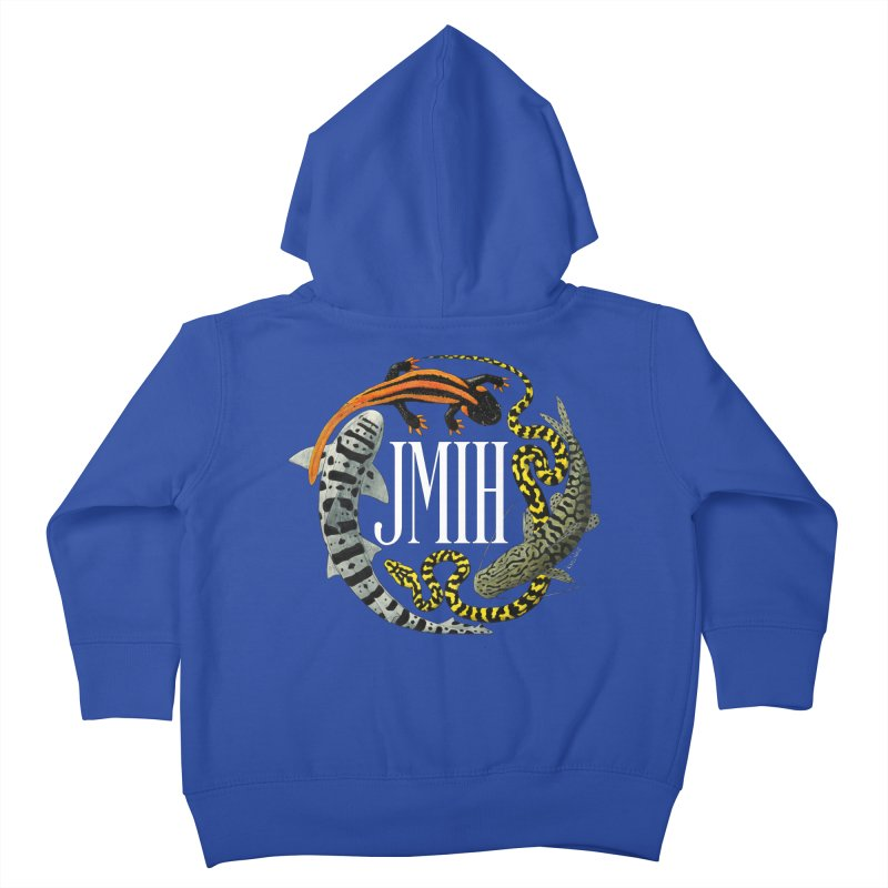 JMIH (for dark background) Kids Toddler Zip-Up Hoody by Kevin L. Wang Designs