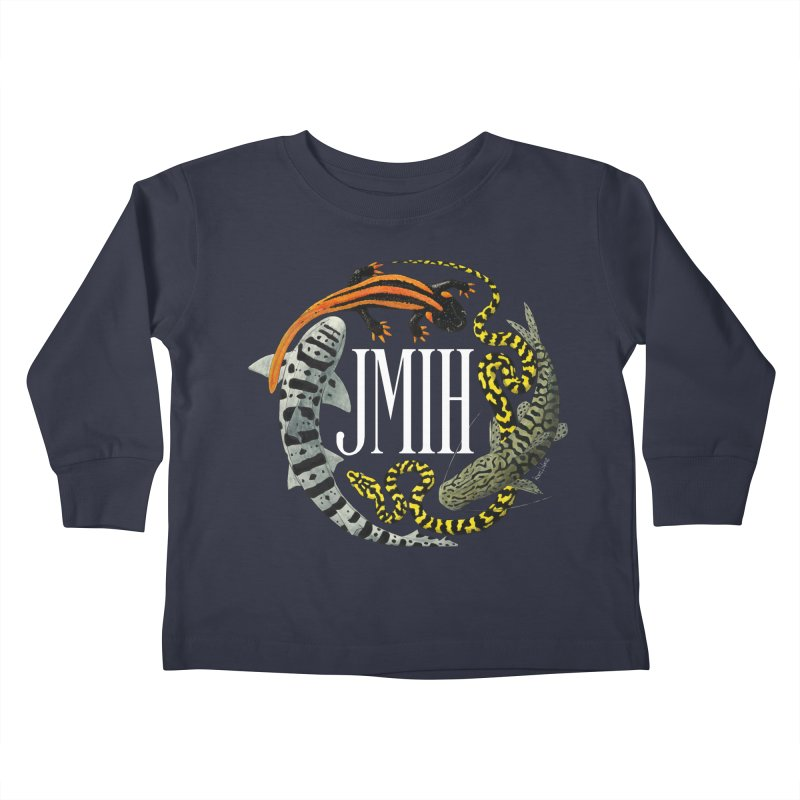 JMIH (for dark background) Kids Toddler Longsleeve T-Shirt by Kevin L. Wang Designs