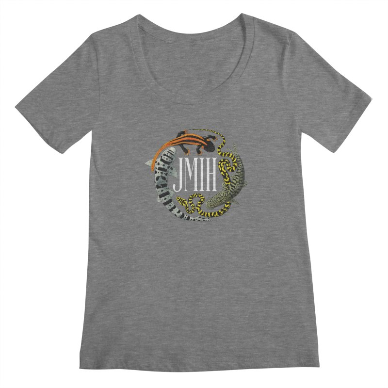 JMIH (for dark background) Women's Scoopneck by Kevin L. Wang Designs