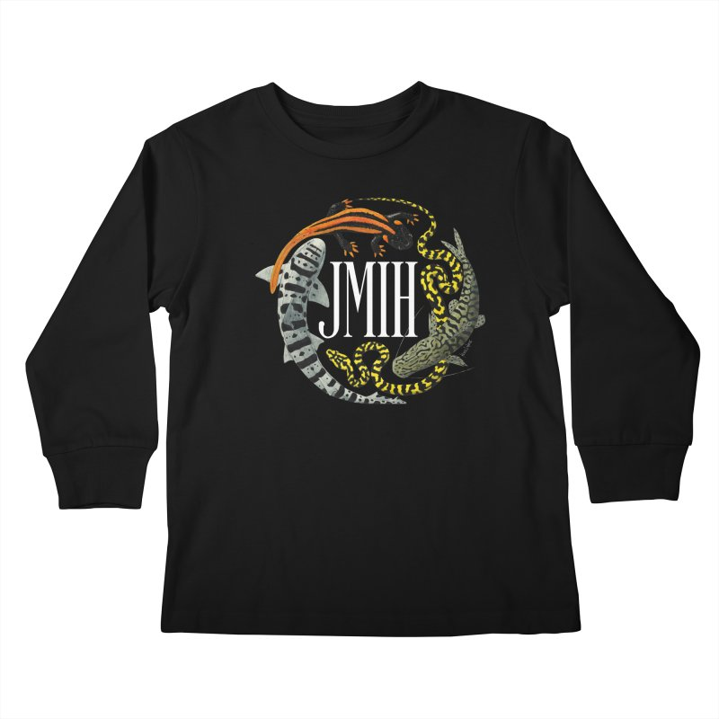 JMIH (for dark background) Kids Longsleeve T-Shirt by Kevin L. Wang Designs