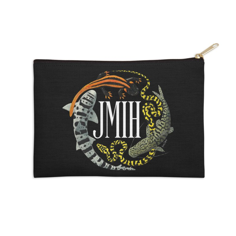 JMIH (for dark background) Accessories Zip Pouch by Kevin L. Wang Designs