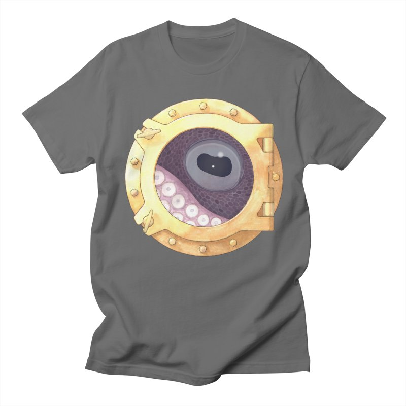Here's Lookin' at You, Squid Men's T-Shirt by Kevin L. Wang Designs