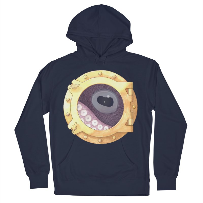 Here's Lookin' at You, Squid Women's Pullover Hoody by Kevin L. Wang Designs