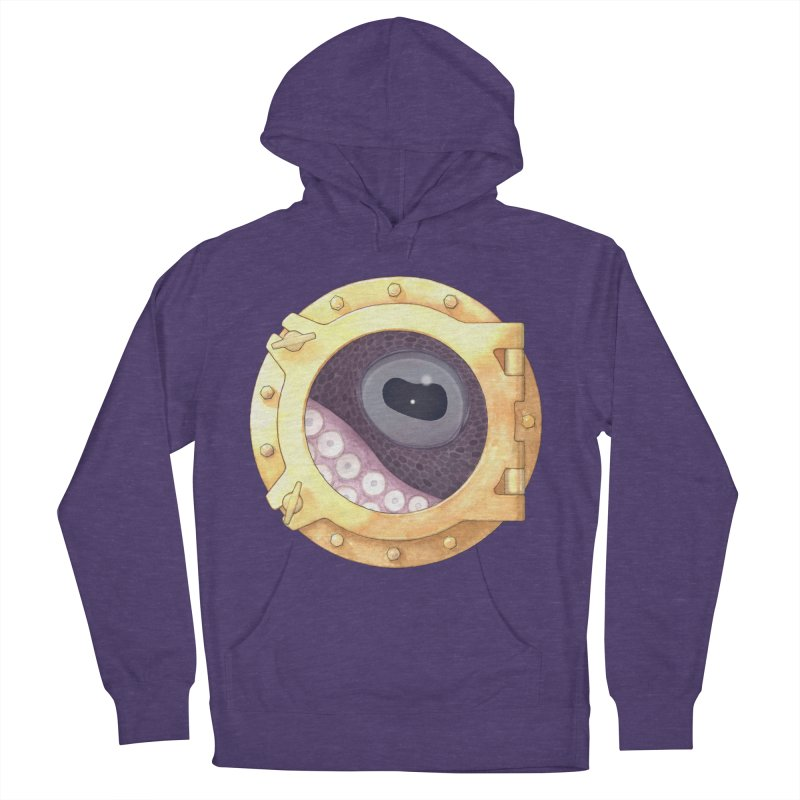 Here's Lookin' at You, Squid Men's Pullover Hoody by Kevin L. Wang Designs