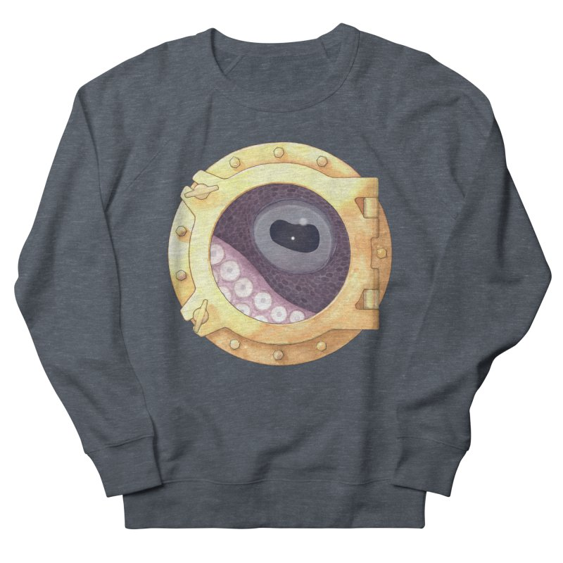 Here's Lookin' at You, Squid Women's French Terry Sweatshirt by Kevin L. Wang Designs