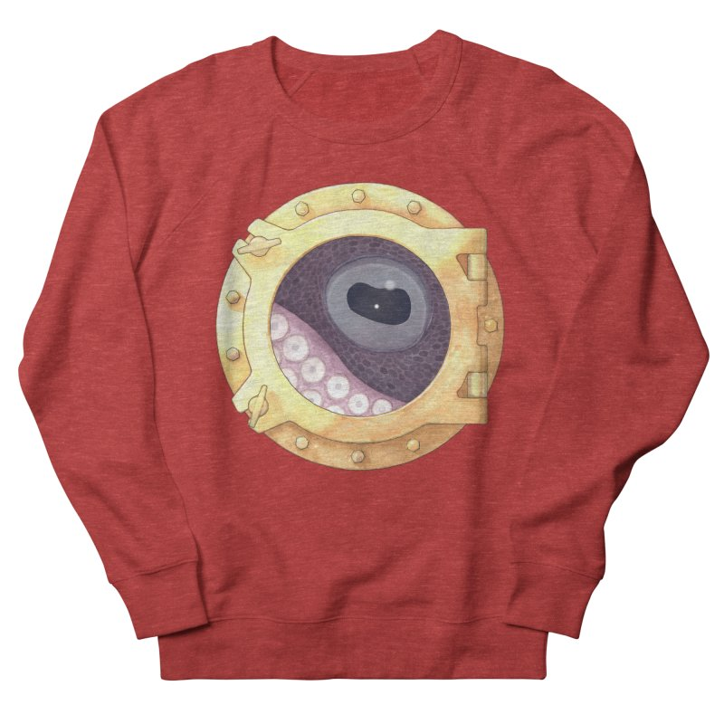 Here's Lookin' at You, Squid Men's French Terry Sweatshirt by Kevin L. Wang Designs