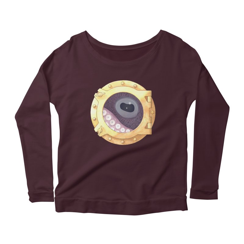 Here's Lookin' at You, Squid Women's Longsleeve Scoopneck  by Kevin L. Wang Designs