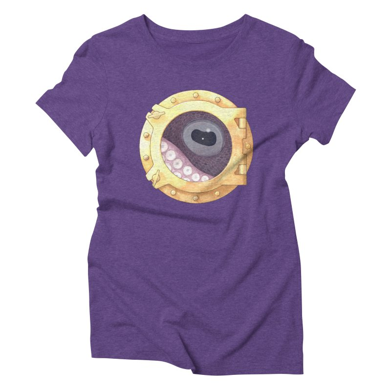 Here's Lookin' at You, Squid Women's Triblend T-shirt by Kevin L. Wang Designs