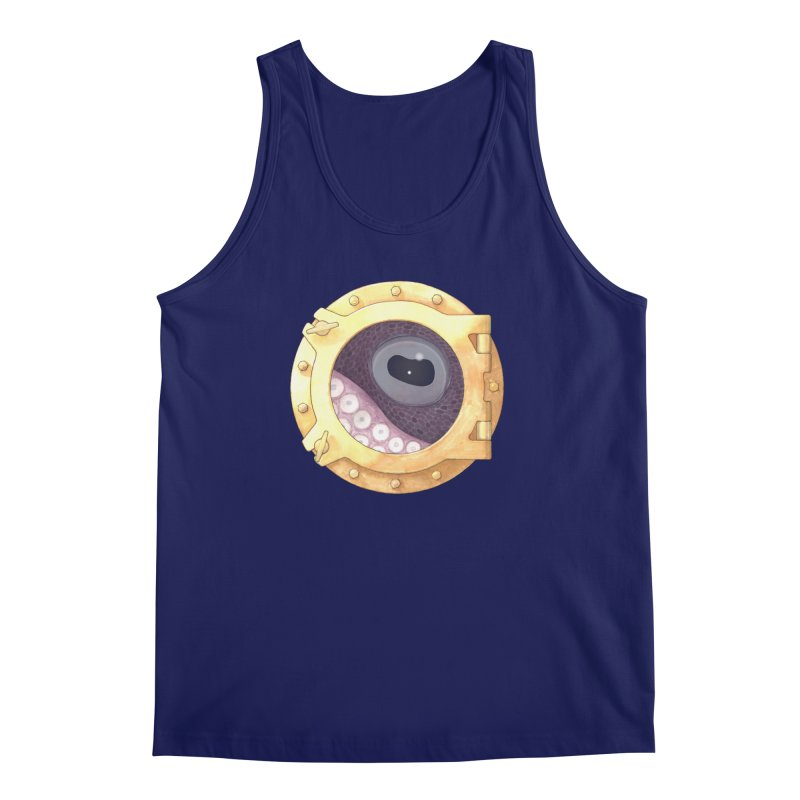 Here's Lookin' at You, Squid Men's Tank by Kevin L. Wang Designs