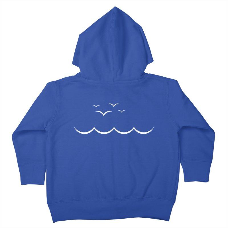 BEACH SERIES: Gulls and Waves Kids Toddler Zip-Up Hoody by The SHIZIRT