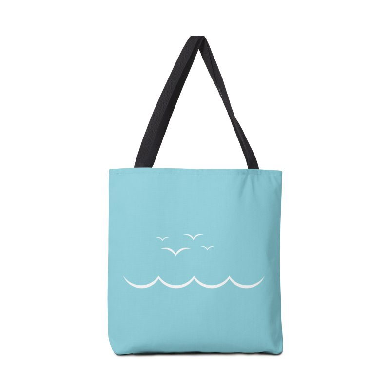 BEACH SERIES: Gulls and Waves Accessories Bag by The SHIZIRT