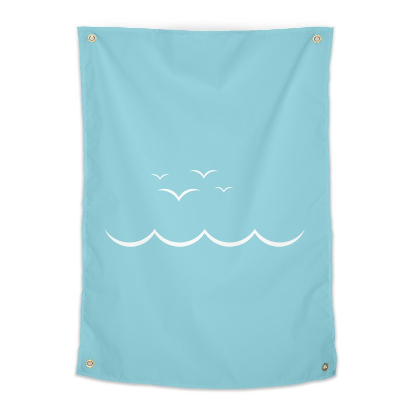 BEACH SERIES: Gulls and Waves Home Tapestry by The SHIZIRT