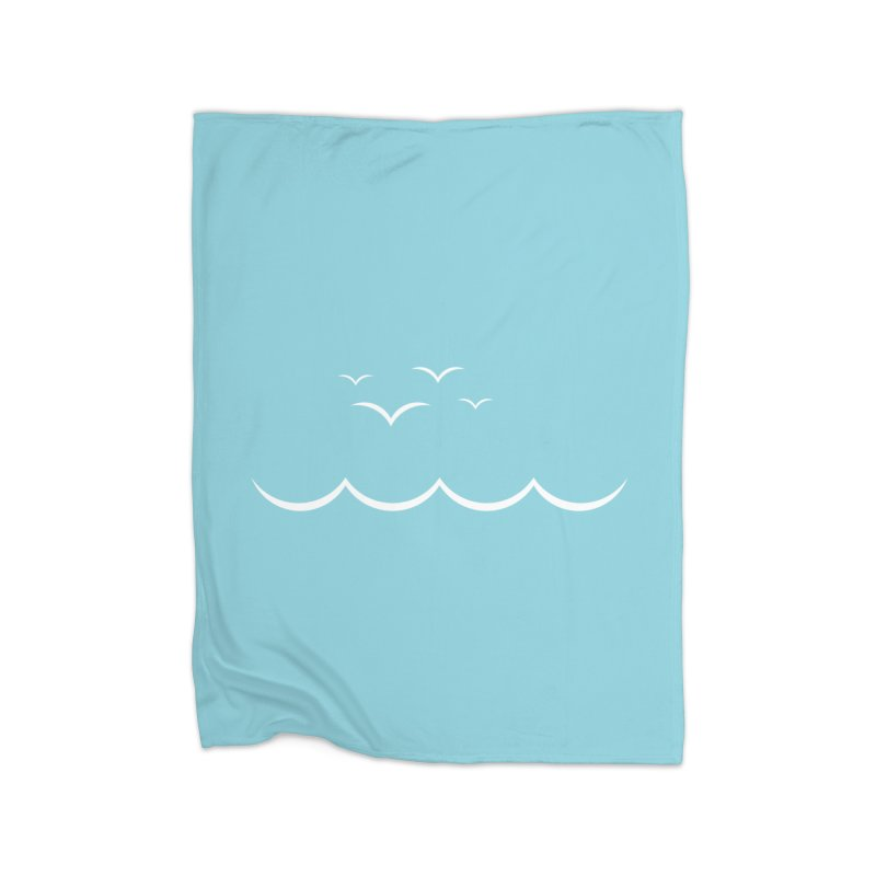 BEACH SERIES: Gulls and Waves Home Blanket by The SHIZIRT