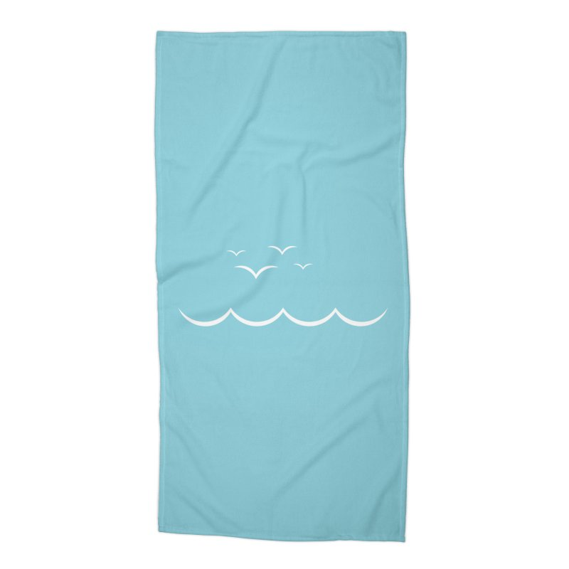 BEACH SERIES: Gulls and Waves Accessories Beach Towel by The SHIZIRT