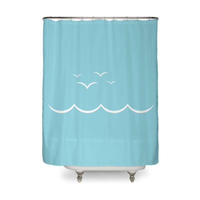 BEACH SERIES: Gulls and Waves Home Shower Curtain by The SHIZIRT