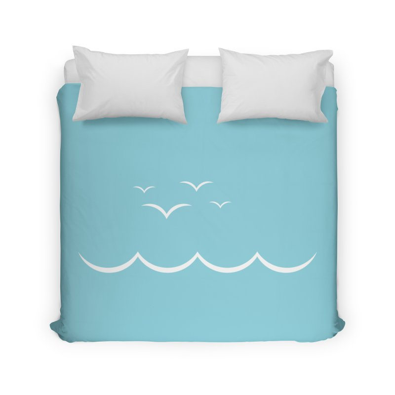 BEACH SERIES: Gulls and Waves Home Duvet by The SHIZIRT