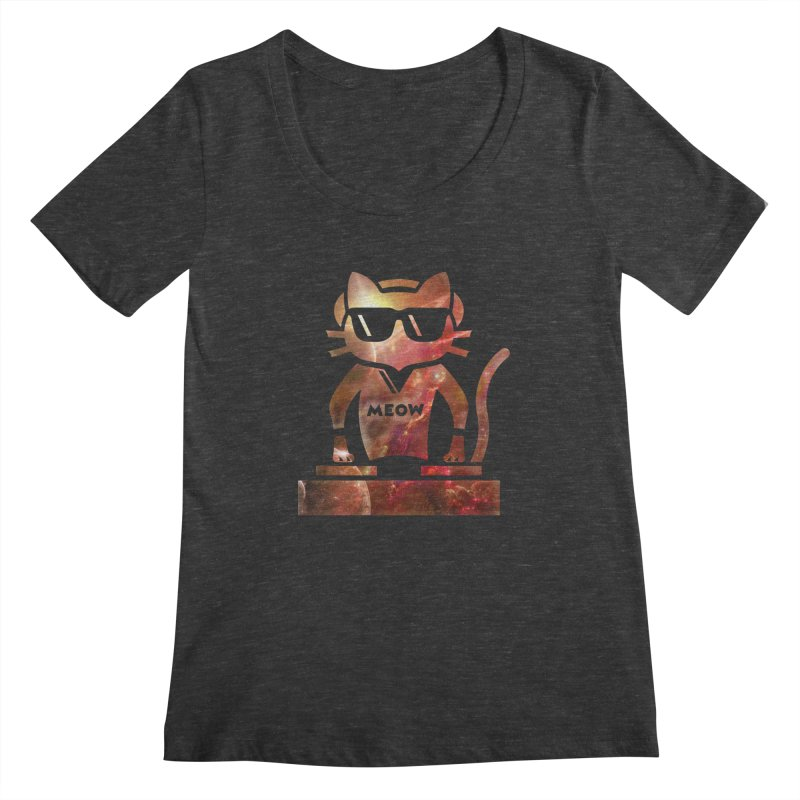 MEOW MIX Women's Scoopneck by The SHIZIRT
