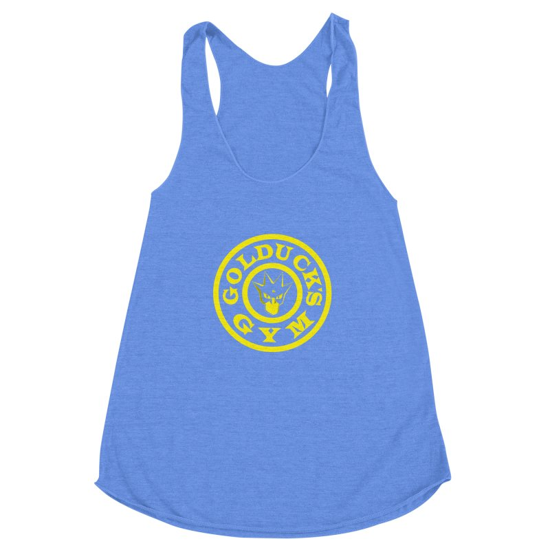 GOLDUCK'S GYM: TRAINER EDITION Women's Racerback Triblend Tank by The SHIZIRT