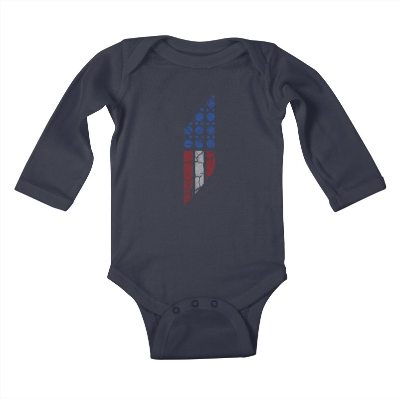 PARALLEL SERIES: #MURICA Kids Baby Longsleeve Bodysuit by The SHIZIRT