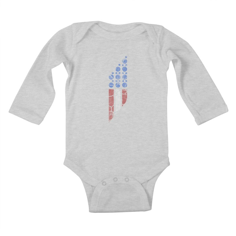 PARALLEL SERIES: #MURICA Kids Baby Longsleeve Bodysuit by The SHIZIRT
