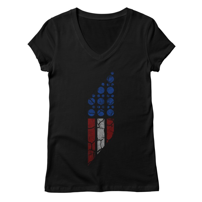 PARALLEL SERIES: #MURICA Women's V-Neck by The SHIZIRT