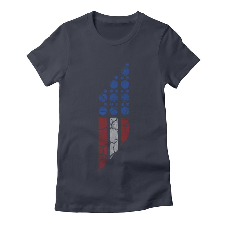 PARALLEL SERIES: #MURICA Women's Fitted T-Shirt by The SHIZIRT