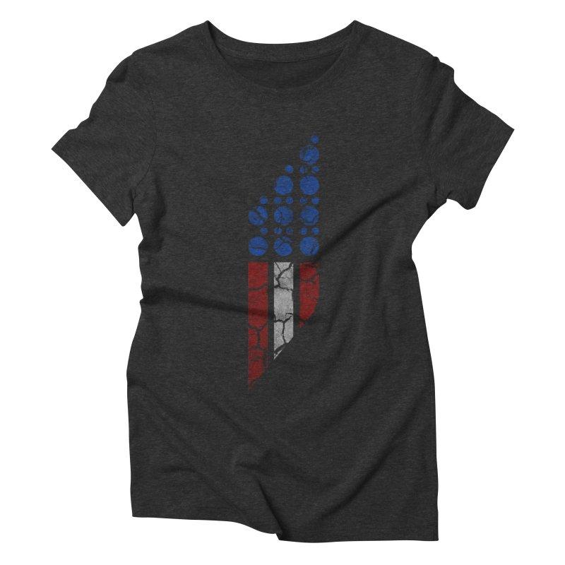 PARALLEL SERIES: #MURICA Women's Triblend T-shirt by The SHIZIRT