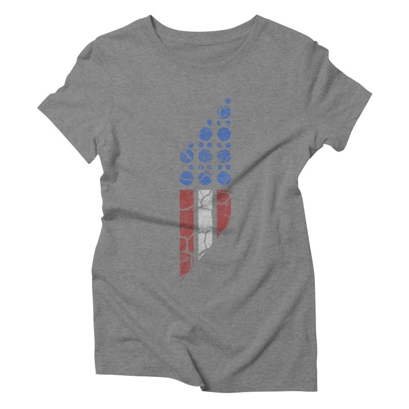 PARALLEL SERIES: #MURICA Women's Triblend T-shirt by The SHIZIRT