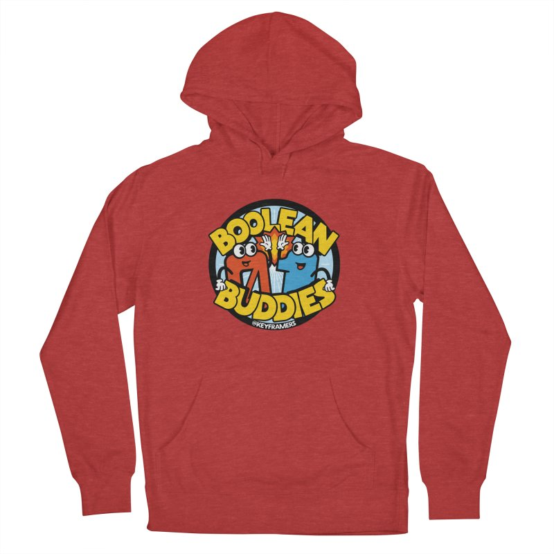 Boolean Buddies Men's French Terry Pullover Hoody by @keyframers Web Developer Merch