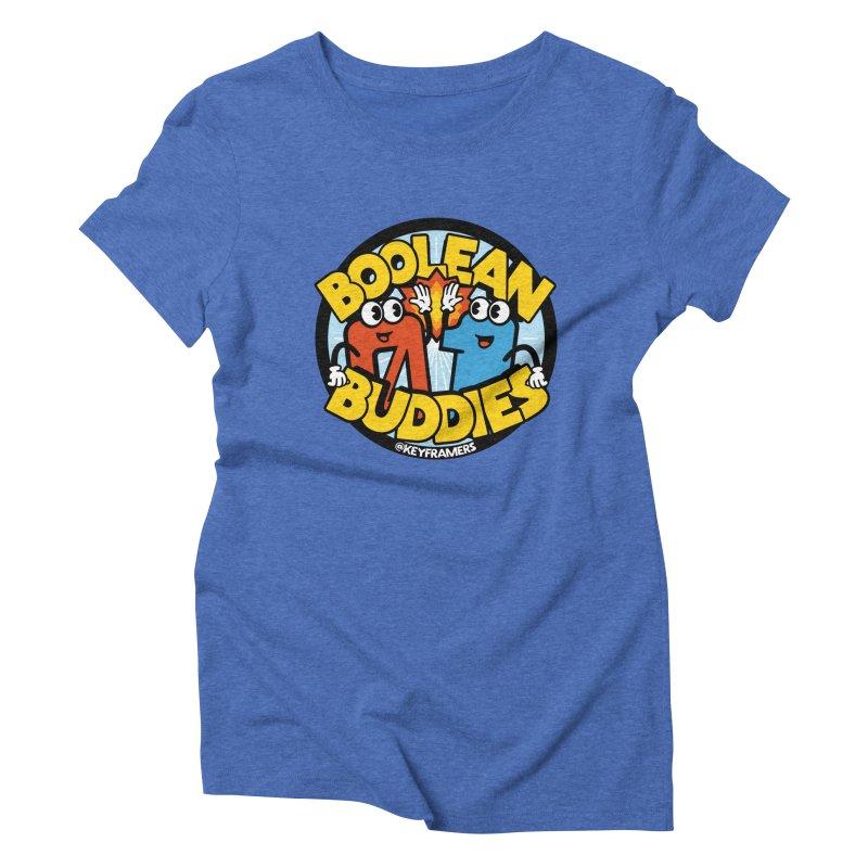 Boolean Buddies Women's Triblend T-Shirt by @keyframers Web Developer Merch