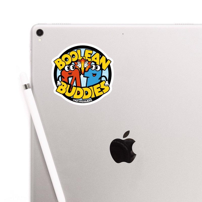 Boolean Buddies Accessories Sticker by @keyframers Web Developer Merch