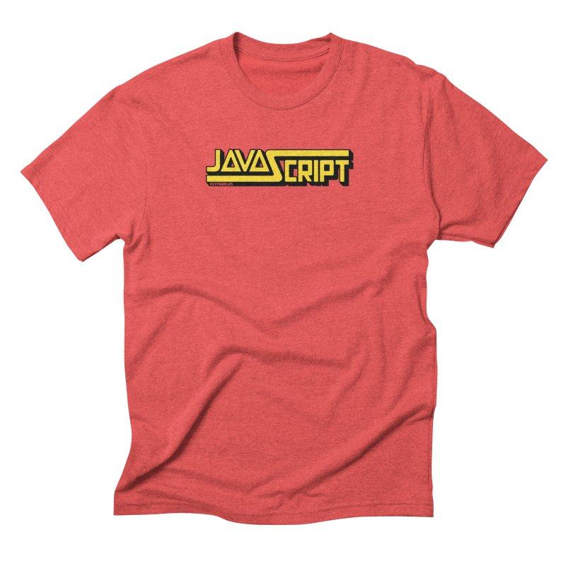 Retro JavaScript Men's Triblend T-Shirt by Web Developer Merch by the @keyframers
