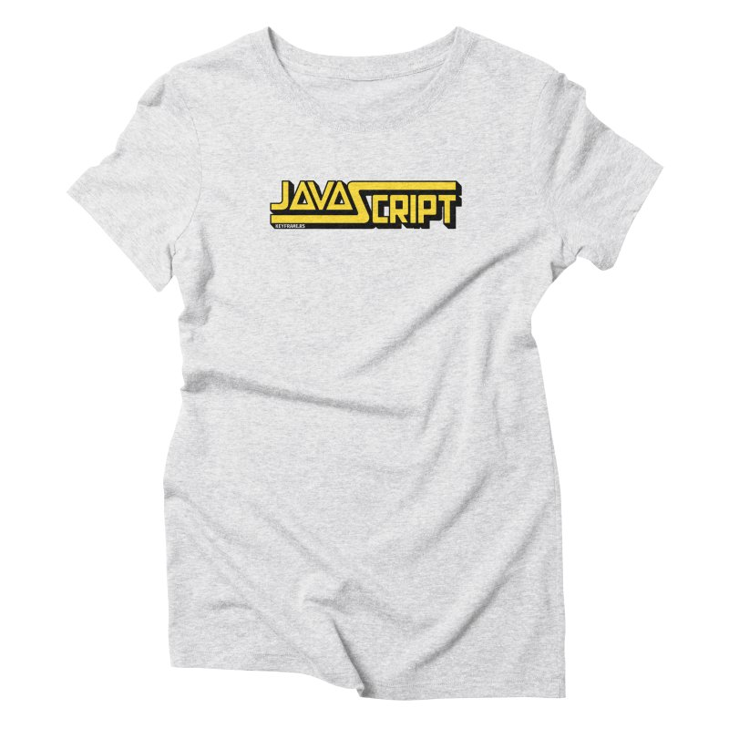 Retro JavaScript Women's T-Shirt by @keyframers Web Developer Merch
